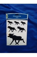 Stickers Moose Black
